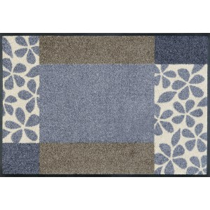 Fußmatte wash+dry Florita Grey waschbar Detailansicht