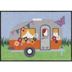 Fußmatte wash+dry Happy Camping waschbar Detailansicht