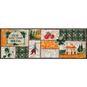 Küchenläufer Toscana Patchwork waschbar