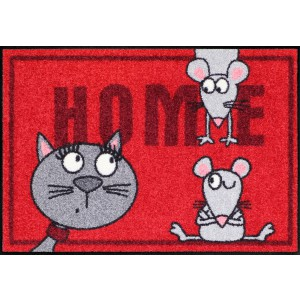 Schmutzfangmatte Salonlöwe Cat and mice waschbar