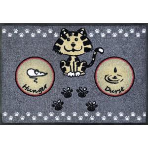 Fußmatte wash+dry Katzenmahlzeit waschbar Detailansicht