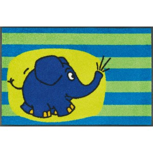 Teppich Kinderzimmer wash+dry Der Elefant waschbar Detailansicht