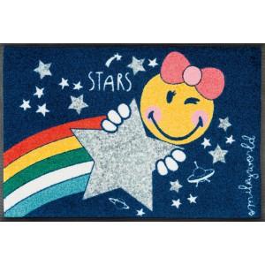 Teppich Kinderzimmer wash+dry Smiley Cosmic Girl waschbar Detailansicht