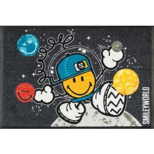 Teppich Kinderzimmer wash+dry Smiley Space Explorer waschbar Detailansicht
