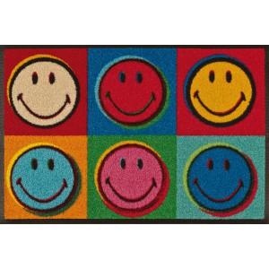 Teppich Kinderzimmer wash+dry Smiley Warhol waschbar Detailansicht