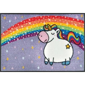 Teppich Kinderzimmer wash+dry Unicorn Rainbow waschbar Detailansicht