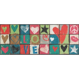 Küchenläufer Schmutzfangmatte Love Letters wash+dry waschbar Ansicht