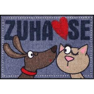 Schmutzfangmatte Salonlöwe Dog loves Cat waschbar
