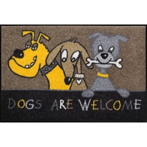 Schmutzfangmatte Salonlöwe Dogs are welcome waschbar