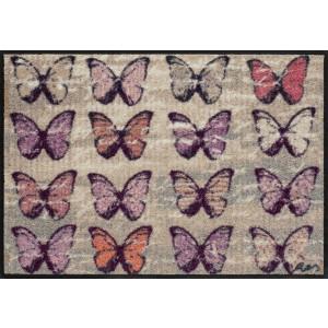 Schmutzfangmatte Colourful Butterflies waschbar Salonlöwe