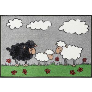 Fußmatte wash+dry Sheep Family waschbar Detailansicht