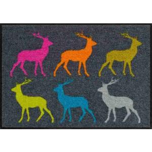 Schmutzfangmatte Crossing Deer Salonlöwe waschbar