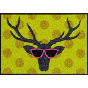Schmutzfangmatte Funky Deer Salonlöwe waschbar