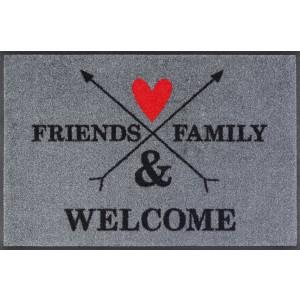 Fußmatte wash+dry Family & Friends waschbar Detailansicht