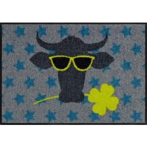 Schmutzfangmatte Funky Cow Salonlöwe waschbar