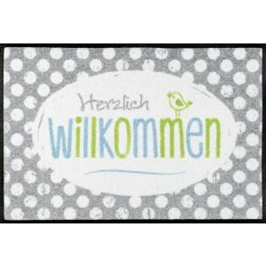 Fußmatte wash+dry Happy Willkommen waschbar Detailansicht