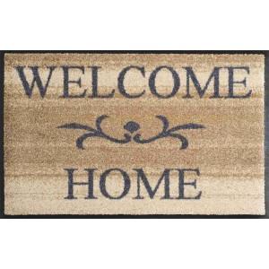 Fußmatte Welcome Home beige waschbar Detailansicht