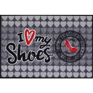 Schmutzfangmatte waschbar Salonlöwe I love my shoes