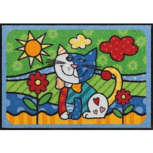 Schmutzfangmatte Salonlöwe Pop Art Cat waschbar