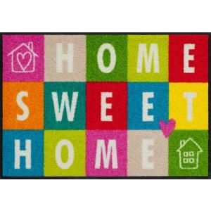 Schmutzfangmatte Salonlöwe Sweet Home Squares waschbar