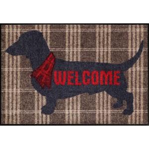 Schmutzfangmatte Salonlöwe Welcome Dog waschbar