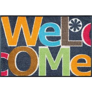 Fußmatte Welcome Letters waschbar Detailansicht