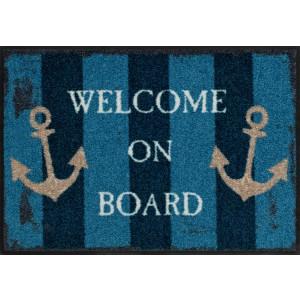 Schmutzfangmatte Salonlöwe Welcome on Board waschbar