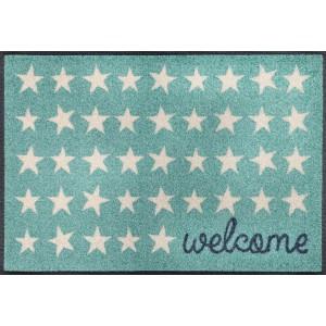 Fußmatte Welcome Stars waschbar Detailansicht