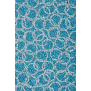Schmutzfangmatte Fußmatte Ringe aqua waschbar