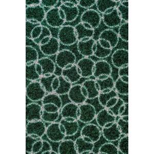 Fußmatte Schmutzfangmatte Ringe dunkelgrün waschbar