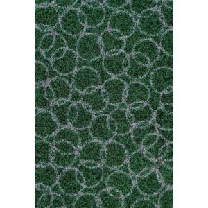 Schmutzfangmatte Fußmatte Ringe dunkelgrün waschbar