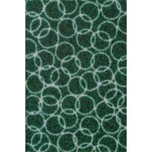 Schmutzfangmatte Fußmatte Ringe dunkelgrün