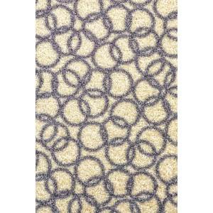 Schmutzfangmatte Fußmatte Ringe elfenbein waschbar