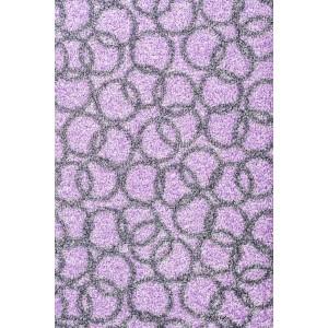 Schmutzfangmatte Fußmatte Ringe flieder waschbar