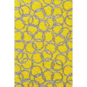 Fußmatte Schmutzfangmatte Ringe gelb waschbar