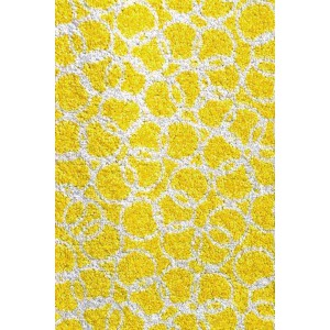 Schmutzfangmatte Fußmatte Ringe gelb waschbar