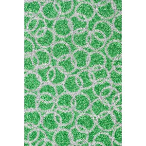 Fußmatte Schmutzfangmatte Ring grün waschbar