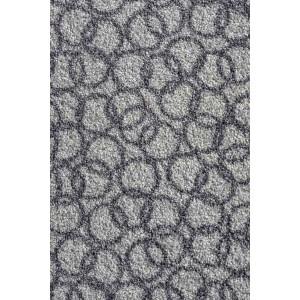 Schmutzfangmatte Fußmatte Ringe hellgrau waschbar