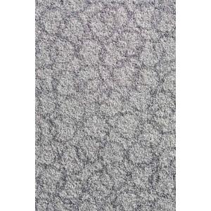 Fußmatte Schmutzfangmatte Ringe hellgrau waschbar