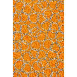 Fußmatte Schmutzfangmatte Ringe orange waschbar