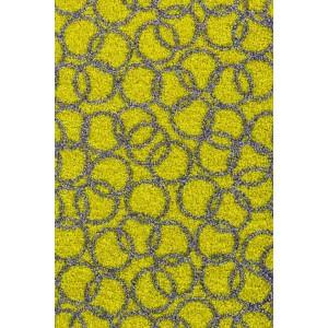 Schmutzfangmatte Fußmatte Ringe lindgrün waschbar