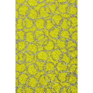Fußmatte Schmutzfangmatte Ringe lindgrün waschbar