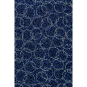Fußmatte Schmutzfangmatte Ringe marineblau waschbar