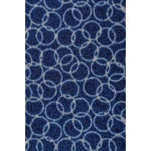 Schmutzfangmatte Fußmatte Ringe marineblau waschbar