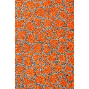 Schmutzfangmatte Fußmatte Ringe orange waschbar