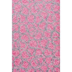 Fußmatte Schmutzfangmatte Ringe rosa waschbar