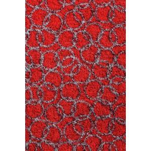Schmutzfangmatte Fußmatte Ringe rot waschbar