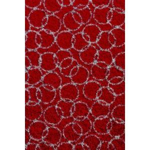 Fußmatte Schmutzfangmatte Ringe rot waschbar