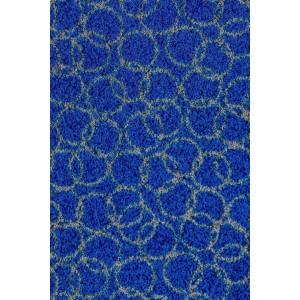 Schmutzfangmatte Fußmatte Ringe royalblau waschbar
