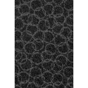 Schmutzfangmatte Fußmatte Ringe schwarz waschbar